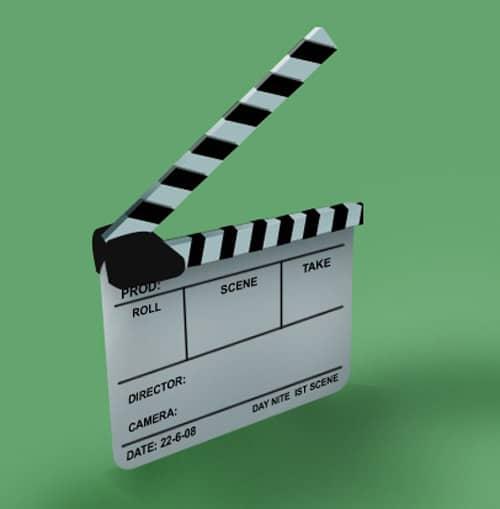 Photoshop Film Clapper Logo Icon