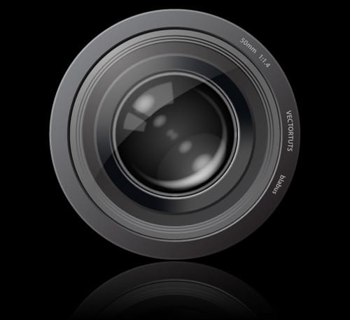Create An Aperture Style Camera Lens Icon
