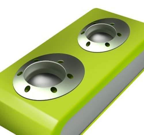 design USB portable speaker logo icon in Photoshop