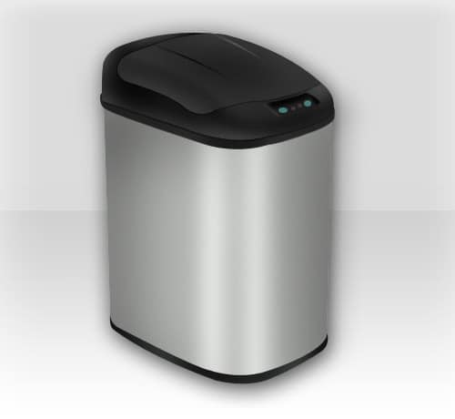 design stainless steel shape sensor dustbin logo icon in Photoshop