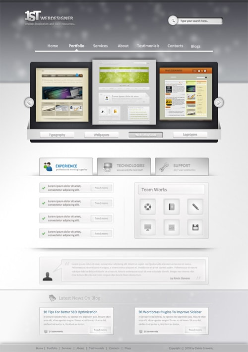 1st Photoshop Web Design Professional Layout Tutorial