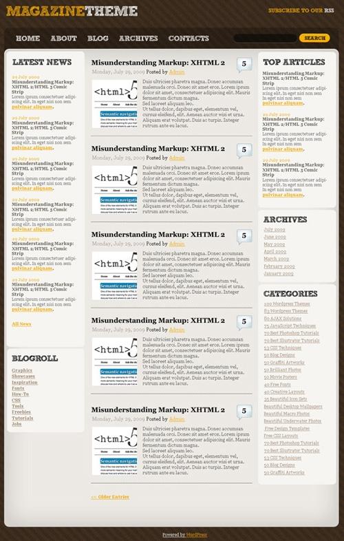 Create a Magazine WordPress Theme from Scratch in Photoshop