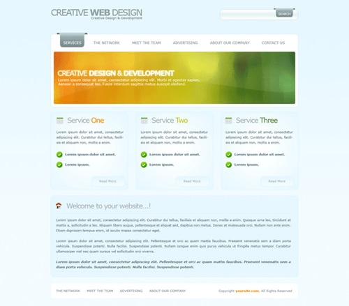 Web Design Layout #11