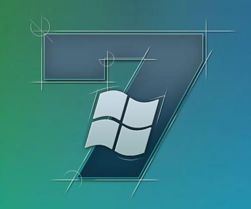 Abstract Windows 7 wallpaper