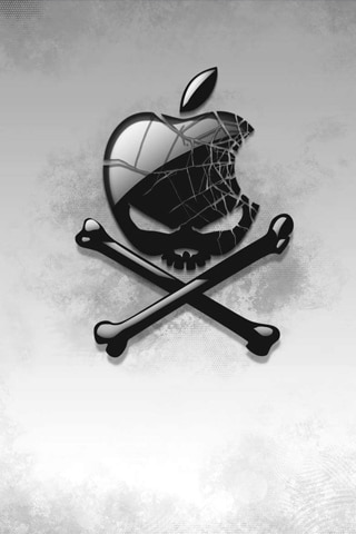 Cracked Apple Skull