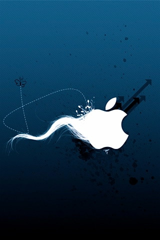 Abstract Apple Sperm Logo