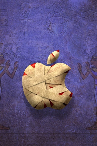 Apple Mummy iPhone Wallpaper