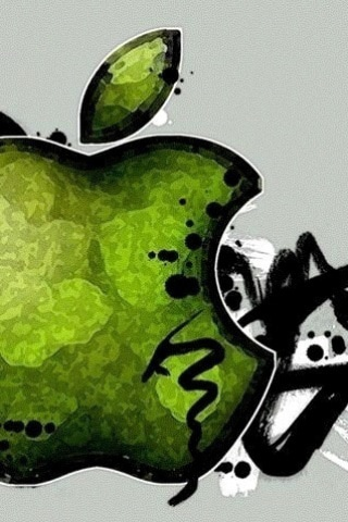 Green Apple iPhone Wallpaper
