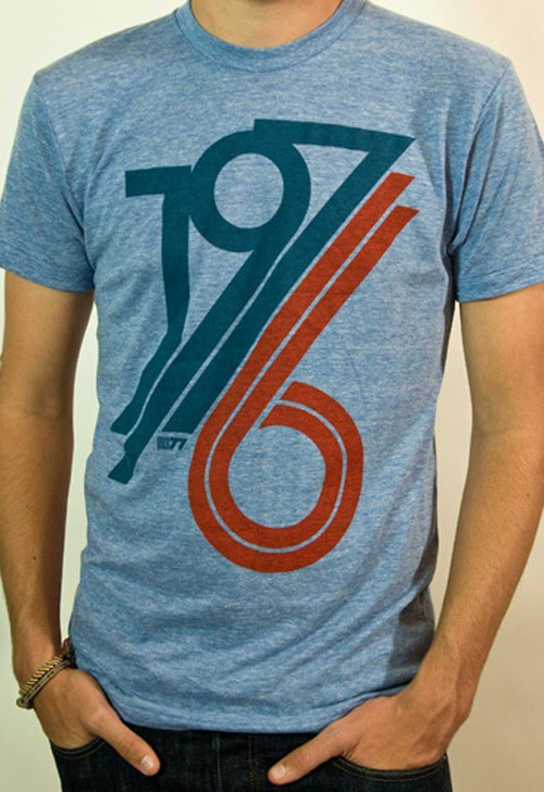 '1976 Athletic Blue' Tshirt