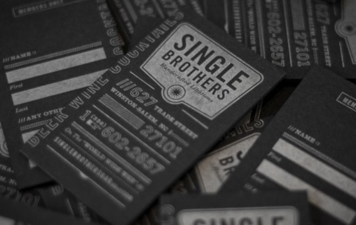 Single Brothers Bar Letterpress