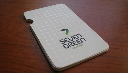7 Green Business Card