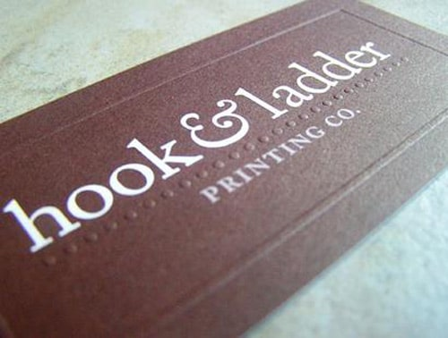 Hook & Ladder Business Card