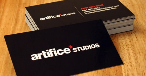 Artifice Studios Business Card