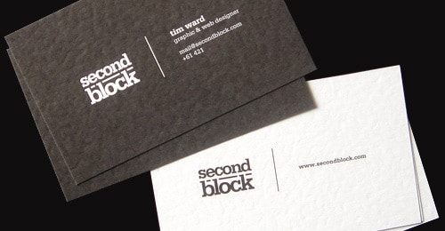 SecondBlock Business Card