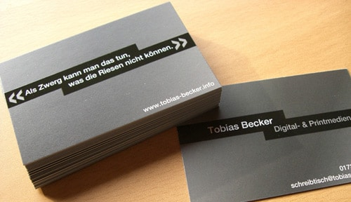 Simple Business Card Design by Tobias Becker