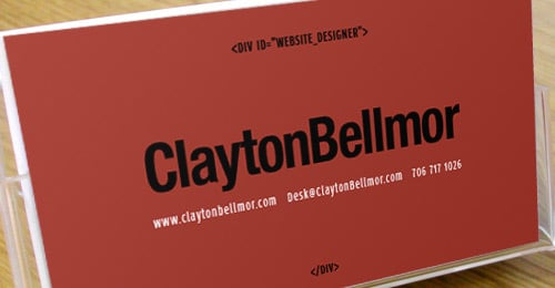 ClaytonBellmor Website Design