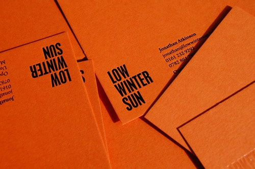 Low Winter Sun Branding