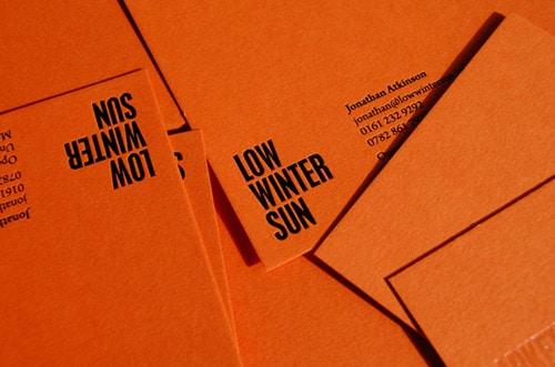 Low Winter Sun Branding