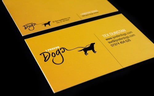 I Prefer Dogs Card Design