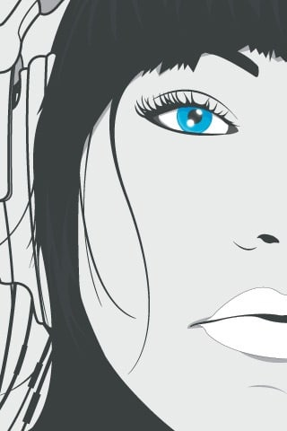 DJ Blue Eyes Vector