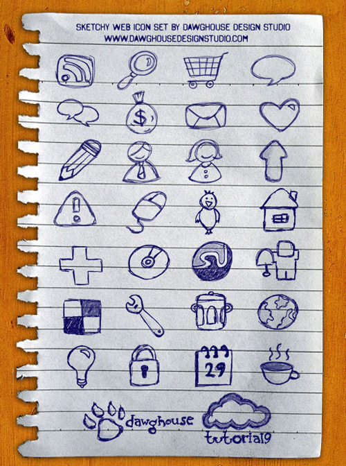Free Icons: Sketchy Web Icon Set