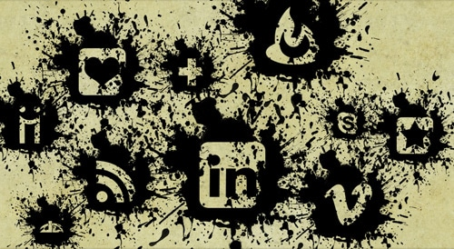 Black Paint Splatter Icons