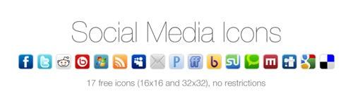 17 Free Social Media Icons