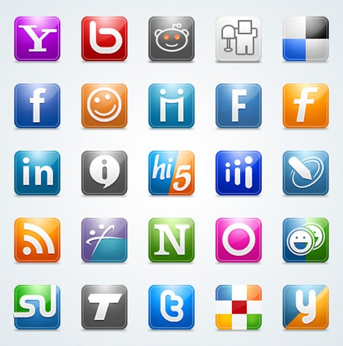 25 Free Social Networking Icons