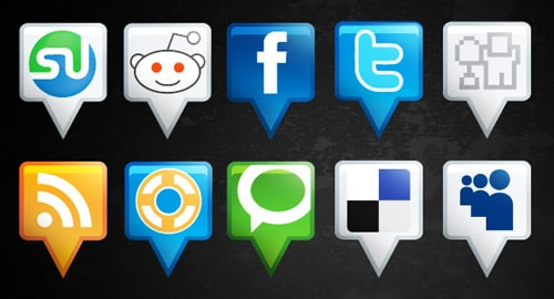 Location: Free Social Media Icon Set