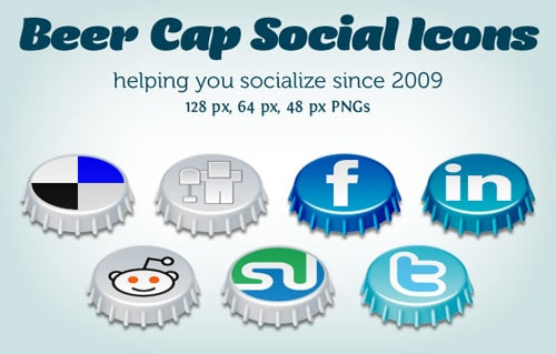 Beer Cap Social Icons