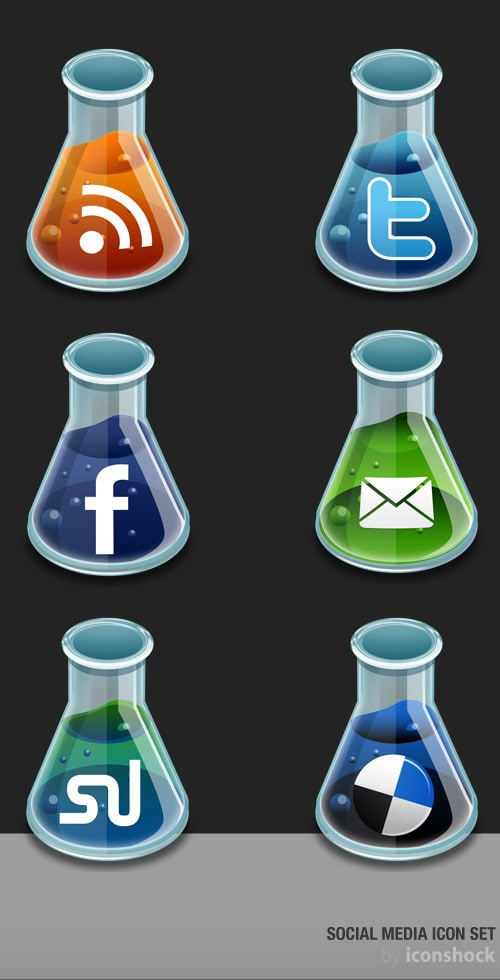 New & Free Social Media Icon Set For Your Blog