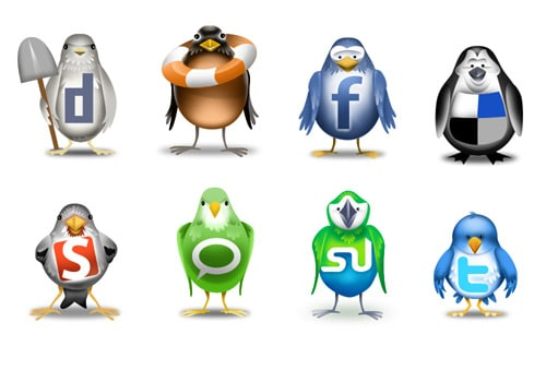 For the Birds… Social Networking Icons Inspired by Twitter