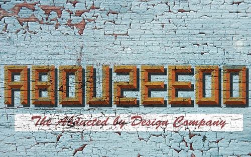 Old Style Typography Sign in Photoshop