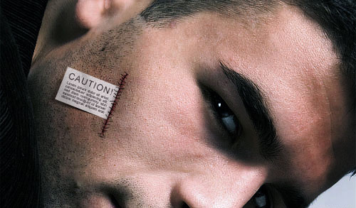 Creative Adding Label to the Skin