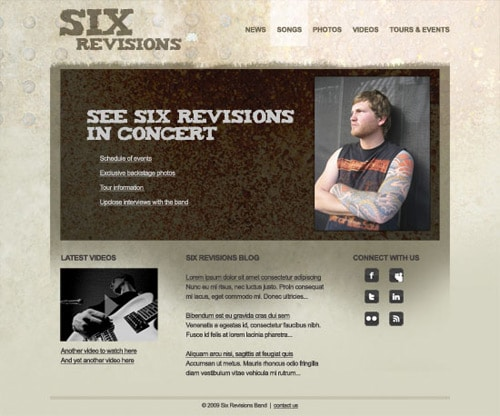 How to Design a Band Website Layout in Photoshop