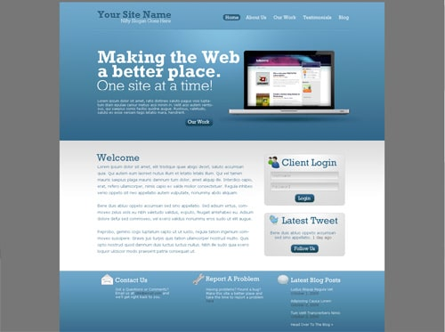 Design a simple, modern web template