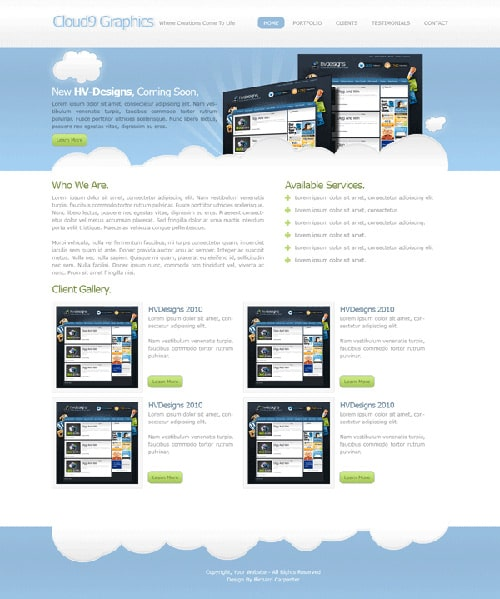 Cloud9 Web Design Layout