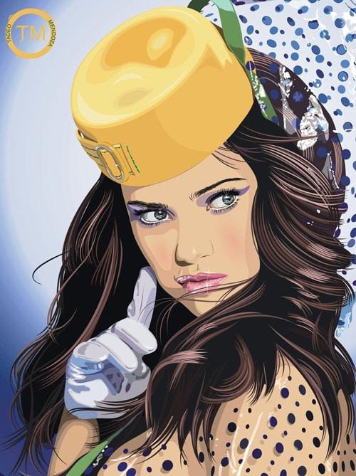 Adriana Lima Vector by tm-1
