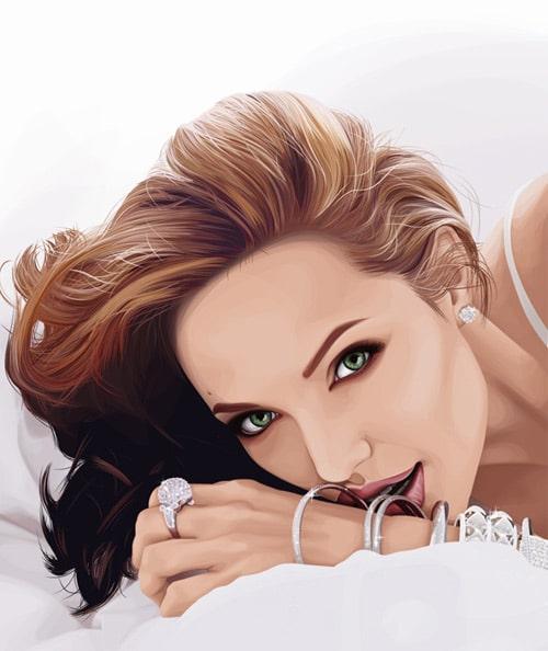 Angelina Jolie by Kat