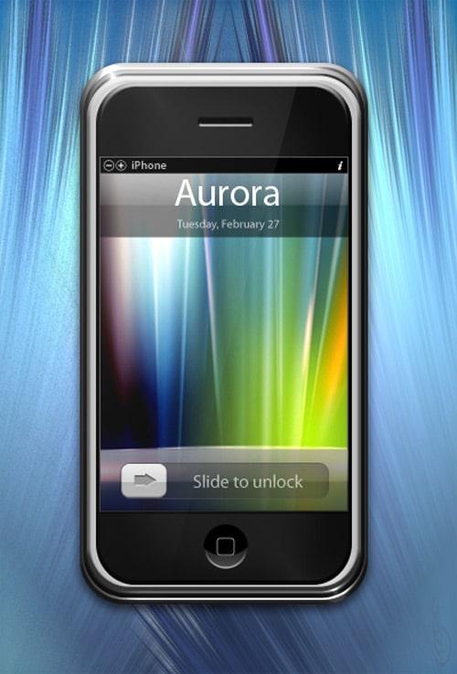 Aurora iPod Touch wallpaper by buoptip