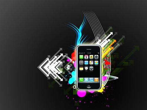 iPhone Vector style by M1SH3