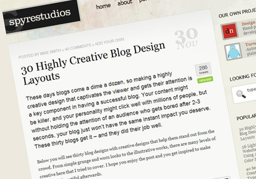 30 Highly Creative Blog Design Layouts