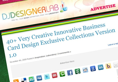 40+ Very Creative Innovative Business Card Design Exclusive Collections Version 1.0