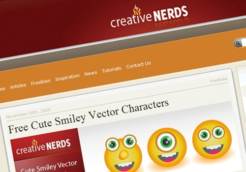Free Cute Smiley Vector Characters