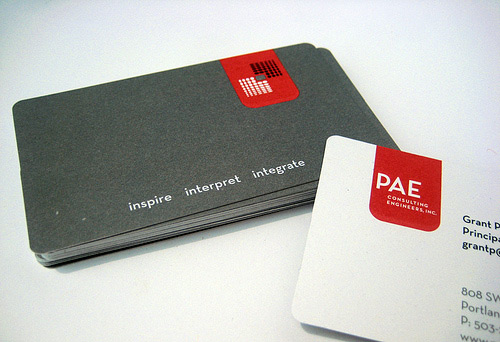 Business Card Series for PAE Engineers by pinballpublishing.com