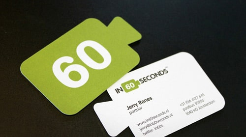Unique Shaped Business Card By In60Seconds