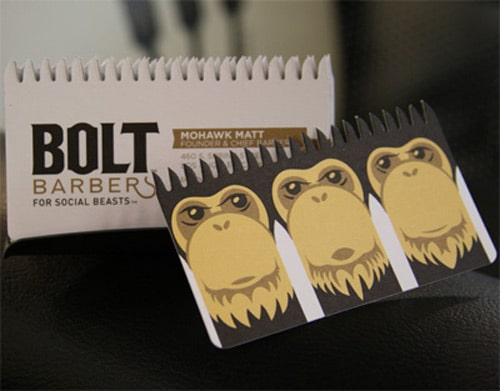 Business Card for: Bolt Barbers by Perspective Branding