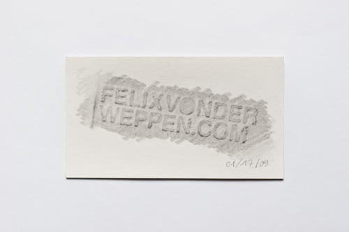 Fast Easy Business Cards by Felix von der Weppen