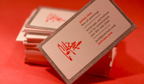 Cool Letterpress Business Card By Dingbat Press
