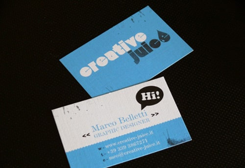 Creative Juice Business Card